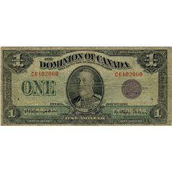 1923 $1 DC-25L #C6402060 PMG F12.  Popular and scarcer Purple Seal type.