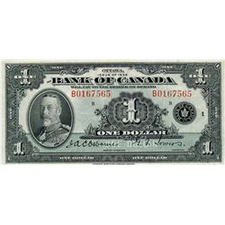 1935 $1 BC-1 #B0167565 PMG CH VF35.  Attractive and strong colours.
