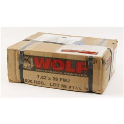 7.62x39 FMJ Wolf Ammo (1000 rnds)