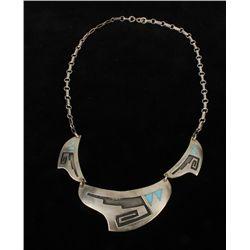Vintage Native American Silver Necklace