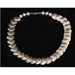 Unique Silver Beaded Necklace