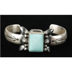 Ladies Sterling Turquoise Cuff Bracelet by H Bits