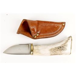 Custom Knife with Scabbard By Jerry Paxton