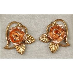 10K YG Black Hills Gold Necklace & Earrings Set