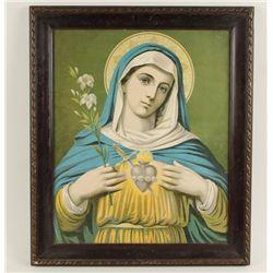"Antique Fine Art Print of ""Virgin Mary"""