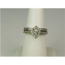 Dazzling 14K White Gold Ladies Bridal Ring