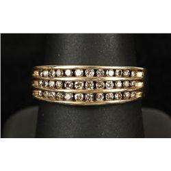 Flashy 10K YG Natural Color Diamond Ring
