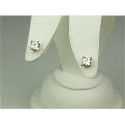 Dazzling 14K White Gold Ladies Earrings