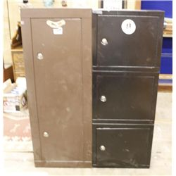 Single Gun Cabinet and 3 Piece Chest