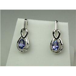 Elegant Ladies Silver Earrings