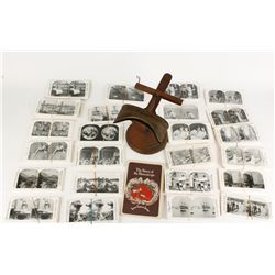 """The Holmes Stereoscope"" Viewer with Box of Slides"