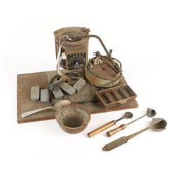 Lyman Lead Melting Pot with Tools, Ingot, & Moulds