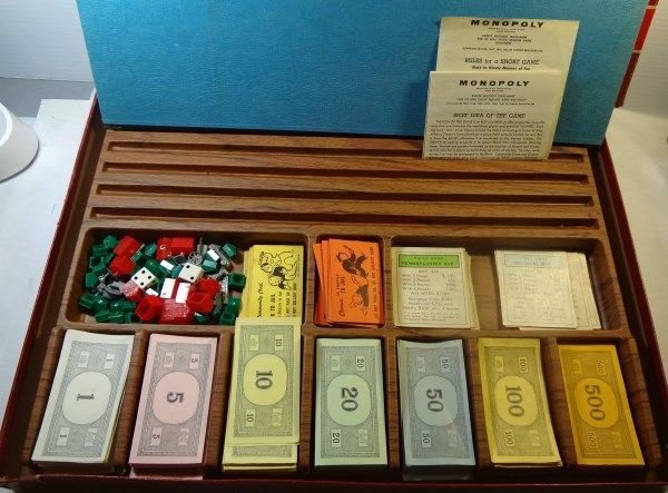 Original Monopoly Wooden Pieces