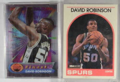 2 David Robinson Cards 94 Topps Finest Iron Man And 1989 Rookie Card