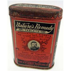 5506 - VINTAGE  NATURES REMEDY TABLETS ADVERTISING TIN