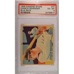 1935 DIAMOND STARS #77 Charlie Gehringer Blue Back PSA EX-MT 6