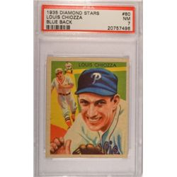 1935 DIAMOND STARS #80 Louis Chiozza Blue Back  PSA  NM7.