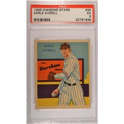 1935 DIAMOND STARS #35 Earle Averill  PSA  EX 5.