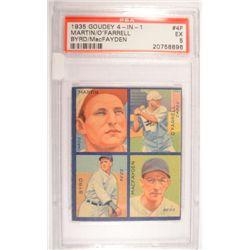1935 GOUDEY 4 - IN - 1 #4F  MARTIN/O'FARRELL  BYRD/MacFAYDEN  PSA EX 5.