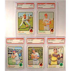 5 - 1973 TOPPS BASEBALL  PSA   MINT 9.