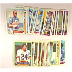34 Misc. Football Cards (80-84) all Indianapolis Colts and Cincinnati Bengals.