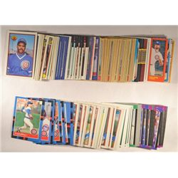 163  --  1980 - 1989 Chicago Cubs Baseball Cards no duplicates.