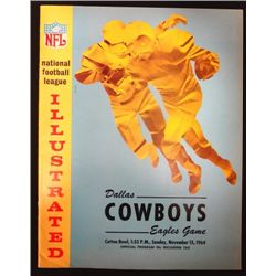 1964 Cowboys vs Eagles Program