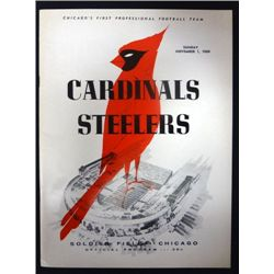 1959 Cardinals vs Steelers Program