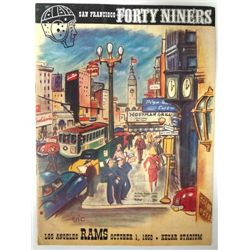 1950 49ers vs Rams Program