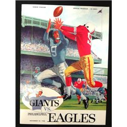 1960 N Y Giants Program, mint condition