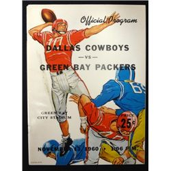 1960 Dallas Cowboys Program, Beautiful condition