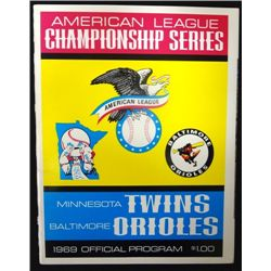 1969 A.L.C.S. Program Twins vs Orioles