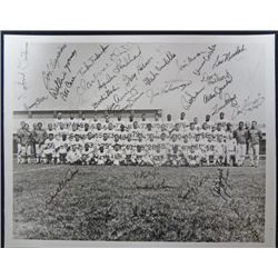 Black / White Photo N.Y Giants Team 8x10