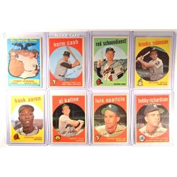 8 - 1959 Topps Baseball Star Cards EX or Better.