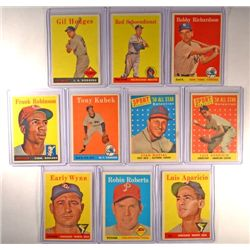 10 - 1958 Topps Baseball Star Cards EX or Better.