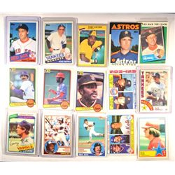 1980's Baseball Star Card Lot (15 cards)  Nice EM+ to NM.