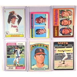 1970's Nolan Ryan Card Lot (6 cards)