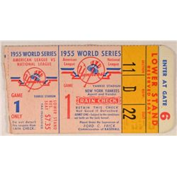 1955 World Series Ticket   American League vs National League