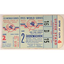1955 World Series Ticket  American League vs National League  Game 2
