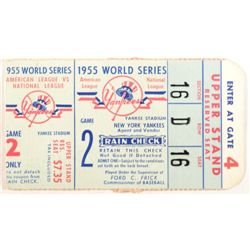 1955 World Series Ticket  American League vs. National League   Game 2