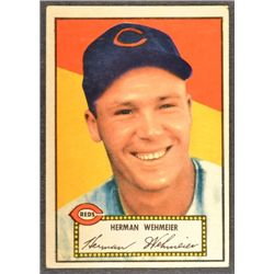 1952 Topps #80  Herman Wehmeier  Red Back  EX
