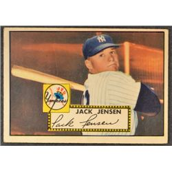 1952 Topps #122  Jack Jensen  VG lt. crease  B.F. Written on Back
