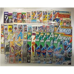 34-MARVEL COMICS (31-THE AVENGERS, 3-AMAZING SPIDER-MAN. MOSTLY 1988-91.