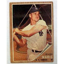 1962 Topps #1 Roger Maris VG