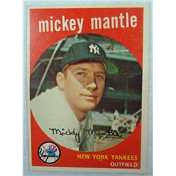 1959 Topps #10 Mickey Mantle very light back crease o/w EX Nice Color & Gloss