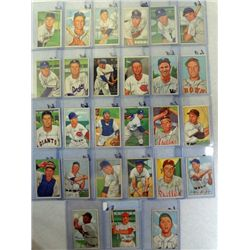 27 diff. 1952 Bowman Baseball Cards Mostly Ex+
