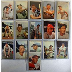16-1953 BOWMAN COLOR BASEBALL CARDS VGEX-EX