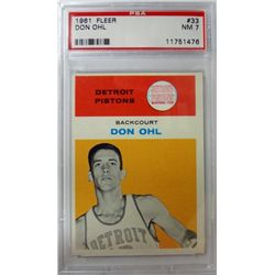1961 Fleer Basketball #33 Don Ohl PSA NM7 ROOKIE