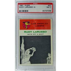 1961 Fleer Basketball #57 Rudy Larusso in action  PSA NM7