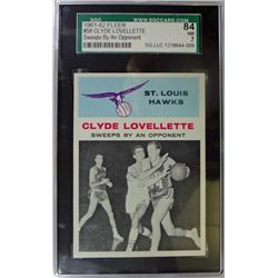 1961-62 Fleer Basketball #58 Clyde Lovellette in action SGC NM7